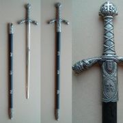 Richard the Lionheart Sword - Nickel Finish